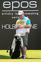 Paul McGinley's caddie during Round 3 of the Maybank Malaysian Open at the Kuala Lumpur Golf & Country Club on Saturday 7th February 2015.<br /> Picture:  Thos Caffrey / www.golffile.ie