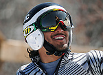March 27, 2012: Arly Velasquez following his second run in the downhill competition at the U.S. Adaptive Alpine National Championships at the Racer's Edge course in Aspen, Colorado.