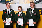 Boys Rowing finalists George Grieve, Antony Zouch & Jordan Stanley. ASB College Sport Auckland Secondary School Young Sports Person of the Year Awards held at Eden Park on Thursday 12th of September 2009.