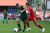 Regan Booty of Notts County and Lawrie Wilson of Ebbsfleet United during Ebbsfleet United vs Notts County, Vanarama National League Football at The Kuflink Stadium on 24th August 2019