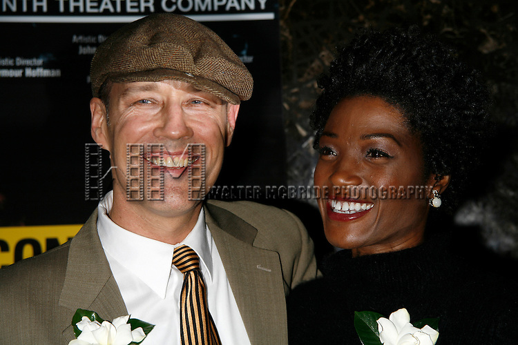 Kevin Geer & Yolonda Ross attending the Opening Night for the Labyrinth Theater Company's World Premiere of a New Play UNCONDITIONAL at the Public Theatre with an after party at Colors Restaurant in New York City.<br />