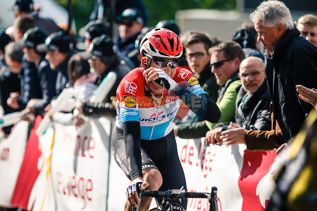 Bob Jungels (LUX) Quick-Step Floors rosses the finish line at the end of La Fleche Wallonne 2017, Huy, Belgium. 19th April 2017. Photo by Thomas van Bracht / PelotonPhotos.com