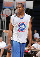 PF Samardo Samuels (Newark, NJ / St. Benedictís) played during the NBA Top 100 Camp held Thursday June 21, 2007 at the John Paul Jones arena in Charlottesville, Va. (Photo/Andrew Shurtleff)