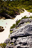 BERMUDA. Rocks and Beaches at Warwick Long Bay.
