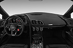 Stock photo of straight dashboard view of a 2017 Audi R8 base 2 Door Coupe