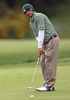 22 May, 2010:   Loyola Colleges Jay Mulieri attempts a putt on hole ten during day three of the first round of the NCAA West Regionals at Gold Mountain Golf course in Bremerton, WA.