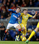 Andy Halliday fouled on the edge of the box by Blair Alston