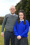 Jessica and Francis Thornton.at confirmation in Mell Church..Picture:  www.newsfile.ie ..