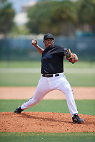 GCL Marlins pitcher Kale Leach (52) during a Gulf Coast League game against the GCL Astros on August 8, 2019 at the Roger Dean Chevrolet Stadium Complex in Jupiter, Florida.  GCL Marlins defeated GCL Astros 5-4.  (Mike Janes/Four Seam Images)