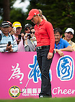 TAOYUAN, TAIWAN - OCTOBER 28:  Suzann Pettersen plays with her ball on the 2nd hole during the day four of the Sunrise LPGA Taiwan Championship at the Sunrise Golf Course on October 28, 2012 in Taoyuan, Taiwan.  Photo by Victor Fraile / The Power of Sport Images