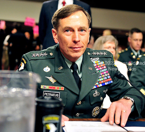 General David H. Petraeus, U.S. Army, prepares to testify before the United States Senate Armed Services Committee hearing on his nomination to be commander of the International Security Assistance Force and commander of the United States Forces in Afghanistan in Washington, D.C. on Tuesday, June 29, 2010..Credit: Ron Sachs / CNP