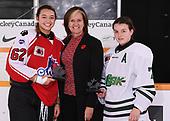 WINKLER, MB– Nov 7 2019: Game 11 - Team Saskatchewan v Team Ontario Red during the 2019 National Women's Under-18 Championship at the Winkler Arena in Winkler, Manitoba, Canada. (Photo by Matthew Murnaghan/Hockey Canada Images)