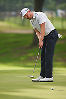 Jonas Blixt (SWE) watches his putt on 5 during round 2 of the 2019 Charles Schwab Challenge, Colonial Country Club, Ft. Worth, Texas,  USA. 5/24/2019.<br /> Picture: Golffile   Ken Murray<br /> <br /> All photo usage must carry mandatory copyright credit (© Golffile   Ken Murray)