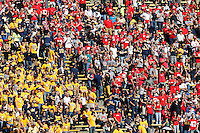 A massive Ohio State contingent made their presence known during the the NCAA football game against California at Memorial Stadium in Berkeley, California on Sept. 14, 2013. (Adam Cairns / The Columbus Dispatch)