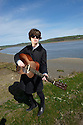 Fionn Regan, Irish Singer Songwriter in Laugharne ,the home of Dylan Thomas ,the Welsh Poet, in Carmarthenshire ,Wales .CREDIT Geraint Lewis
