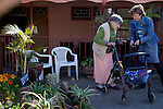 KLEINFONTEIN, SOUTH AFRICA - JULY 15: Residents in a home for the old on July 15, 2013 in Kleinfontein outside Pretoria, South Africa. The all white town with about one thousand residents are all Afrikaners with a Vortrekker heritage. Only white Afrikaners who share Afrikaner culture, language and religion are allowed to settle in the town.  (Photo by: Per-Anders Pettersson)