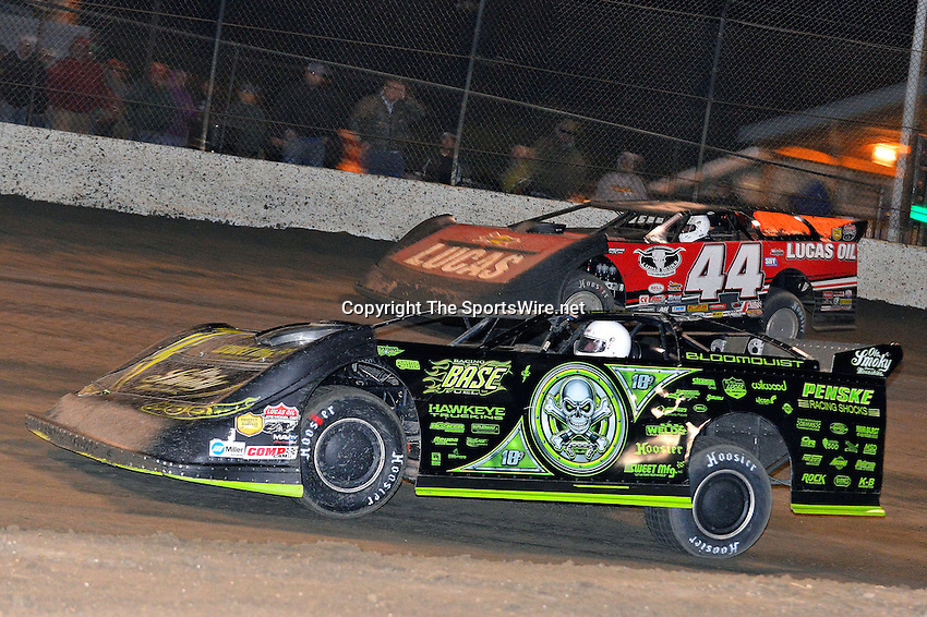 Feb 15, 2014; 9:34:10 PM; Gibsonton, FL., USA; The Lucas Oil Dirt Late Model Racing Series running The 38th Aannual WinterNationals at East Bay Raceway Park.  Mandatory Credit: (thesportswire.net)