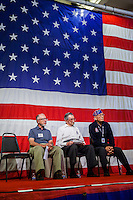 The USS Hornet Museum welcomes the 442nd Regimental Combat Team and the Lost Battalion during Living Ship Day on Saturday, August 15, 2015 in Alameda. Franz Steidl, Al Tortolano and Lawson Takai discuss the rescue of the Lost Battalion.