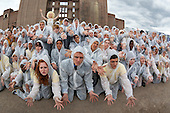 S'warm, National Youth Theatre Actors Launch Race to Save Honeybees, launch event at Battersea Power Station, London, UK