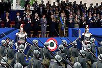 Roma, 2 Giugno 2016<br />  Sfilata davanti la tribuna delle alte cariche dello Stato<br /> Celebrazioni e parata militare per il 70°anniversario della Repubblica italiana.<br /> Rome, June 2, 2016<br /> Celebration and military parade for the 70th anniversary of the Italian Republic