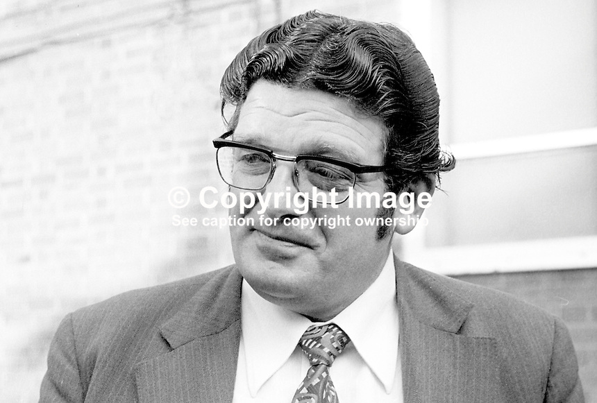 John Dennis Concannon better know as Don Concannon, MP Labour Party, Junior Minister, Northern Ireland from 1974 to 1976. Taken 19th February 1975. 197502190148<br />