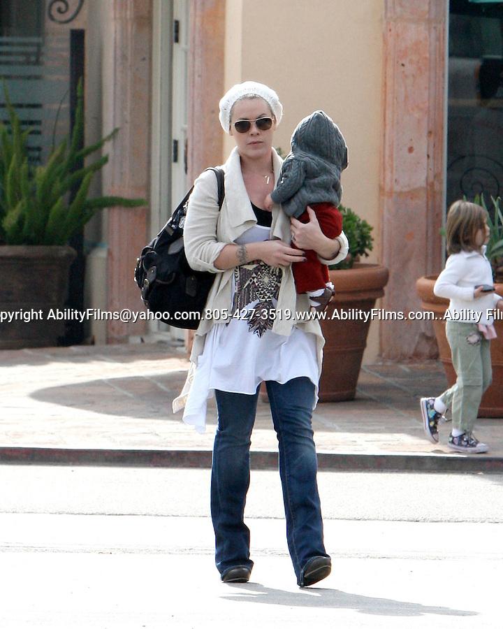 3b82396a2e4 Pink Alecia Beth Moore leaving Coogies restaurant in Malibu California  wearing