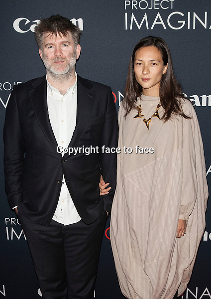 NEW YORK, NY - OCTOBER 24, 2013: James Murphy and Christina Topsoe attend the Premiere Of Canon's Project Imaginat10n Film Festival at Alice Tully Hall on October 24, 2013 in New York City. <br />