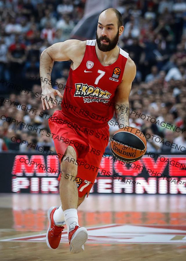 Kosarka Euroleague season 2016-2017<br /> Crvena Zvezda v Olympiacos (Athens)<br /> Vassilis Spanoulis<br /> Beograd, 22.03.2017.<br /> foto: Srdjan Stevanovic/Starsportphoto &copy;