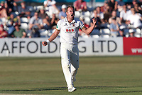 Neil Wagner of Essex celebrates taking the wicket of Steven Davies during Essex CCC vs Somerset CCC, Specsavers County Championship Division 1 Cricket at The Cloudfm County Ground on 26th June 2018