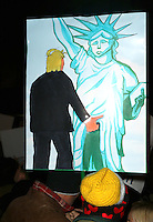 www.acepixs.com<br /> <br /> January 19 2017, New York City<br /> <br /> Demonstartors at an anti-Trump rally outside TrumpmTower on January 19 2017 in New York City<br /> <br /> By Line: Zelig Shaul/ACE Pictures<br /> <br /> <br /> ACE Pictures Inc<br /> Tel: 6467670430<br /> Email: info@acepixs.com<br /> www.acepixs.com
