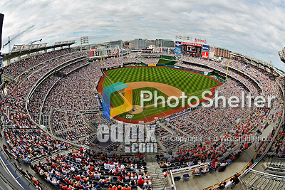 20 May 2012: A capacity crowd of 41,918 watch the Washington Nationals host the Baltimore Orioles at Nationals Park in Washington, DC. The Nationals defeated the Orioles 9-3 to salvage the third game of their 3-game series. Mandatory Credit: Ed Wolfstein Photo