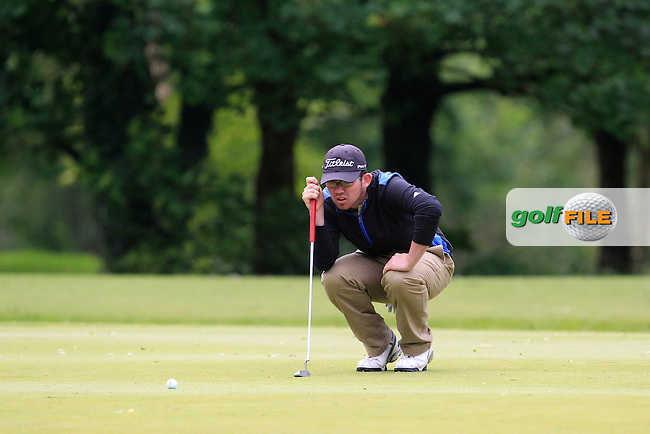 Cameron Raymond (Newlands) on the 1st green during Round 3 of the Irish Boys Amateur Open Championship at Tuam Golf Club on Thursday 25th June 2015.<br /> Picture:  Thos Caffrey / www.golffile.ie