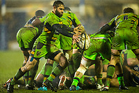 Northampton Saints' Jacobus Reinach in action during todays match<br /> <br /> Photographer Bob Bradford/CameraSport<br /> <br /> Anglo-Welsh Cup Semi Final - Bath Rugby v  Northampton Saints - Friday 9th March 2018 - The Recreation Ground - Bath<br /> <br /> World Copyright &copy; 2018 CameraSport. All rights reserved. 43 Linden Ave. Countesthorpe. Leicester. England. LE8 5PG - Tel: +44 (0) 116 277 4147 - admin@camerasport.com - www.camerasport.com