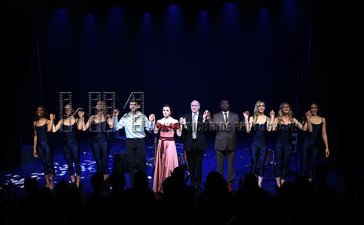 Tony Yazbeck, Irina Dvorovenko, Peter Friedman, Teagle F. Bougere and cast during the Opening Night Performance Curtain Call bows  for  'The Beast In The Jungle' at The Vineyard Theatre on May 23, 2018 in New York City.
