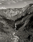 Yosemite Valley and Falls. CA. 1969