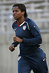 14 July 2007: United States' Briana Scurry. The United States Women's National Team defeated their counterparts from Norway 1-0 at Rentschler Stadium in East Hartford, Connecticut in a women's international friendly soccer game.
