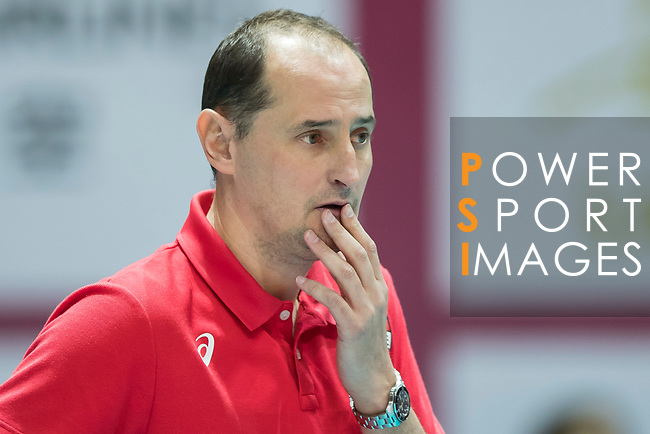 Head coach Ushakov Konstantin of Russia reacts during the FIVB Volleyball World Grand Prix - Hong Kong 2017 match between Japan and Russia on 23 July 2017, in Hong Kong, China. Photo by Yu Chun Christopher Wong / Power Sport Images