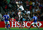 Fiji vs Samoa during the HSBC Sevens Wold Series match as part of the Cathay Pacific / HSBC Hong Kong Sevens at the Hong Kong Stadium on 27 March 2015 in Hong Kong, China. Photo by Victor Fraile / Power Sport Images