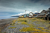 USA, Alaska, Homer, China Poot Bay, Kachemak Bay, views of the town on Homer Spit