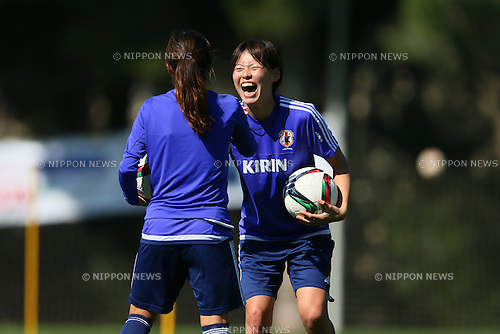 Saki Kugagai (JPN), <br /> MARCH 10, 2015 - Football / Soccer : <br /> Japan Women's Training <br /> for Algarve Women's Football Cup 2015 <br /> in Quarteira, Portugal. <br /> (Photo by YUTAKA/AFLO SPORT)