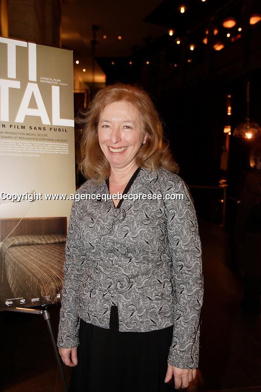 Montreal (Qc) CANADA, November 6, 2007-<br /> Marie-Ginette Guay, actress,<br /> Continental - Un film sans fusil at Ex-Centris<br /> photo (c) Pierre Roussel -  Images Distribution
