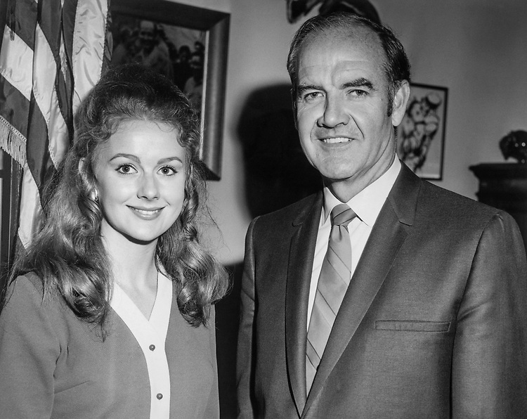 Sen. George McGovern, D-S.D. with wife Eleanor McGovern in 1969. (Photo by CQ Roll Call)