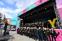 Picture by Simon Wilkinson/SWpix.com 02 /05/2018<br /> Cycling Tour de Yorkshire Eve of Tour Event - Millennium Square Leeds<br /> Mens Race presentation