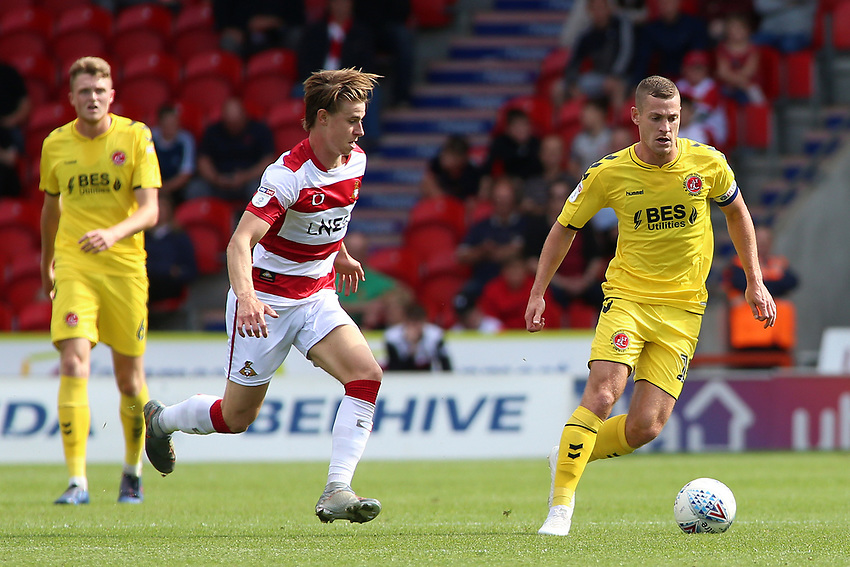 Fleetwood Town's Paul Coutts in action<br /> <br /> Photographer David Shipman/CameraSport<br /> <br /> The EFL Sky Bet League One - Doncaster Rovers v Fleetwood Town - Saturday 17th August 2019  - Keepmoat Stadium - Doncaster<br /> <br /> World Copyright © 2019 CameraSport. All rights reserved. 43 Linden Ave. Countesthorpe. Leicester. England. LE8 5PG - Tel: +44 (0) 116 277 4147 - admin@camerasport.com - www.camerasport.com