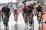 Maglia Ciclamino Elia Viviani (ITA) Quick-Step Floors outsprints Sam Bennett (IRL) Bora-Hansgrohe to win Stage 17 his 4th stage of the 2018 Giro d'Italia, The Franciacorta Stage running 155km from Riva del Garda to Iseo, Italy. 23rd May 2018.<br /> Picture: LaPresse/Fabio Ferrari | Cyclefile<br /> <br /> <br /> All photos usage must carry mandatory copyright credit (&copy; Cyclefile | LaPresse/Fabio Ferrari)