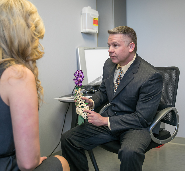 Dr. Meighen at the Spine Nevada office in Sparks on March 8, 2017.