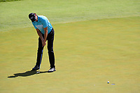 Thomas Pieters (BEL) sinks his putt on 12 during Friday's round 2 of the 117th U.S. Open, at Erin Hills, Erin, Wisconsin. 6/16/2017.<br /> Picture: Golffile | Ken Murray<br /> <br /> <br /> All photo usage must carry mandatory copyright credit (&copy; Golffile | Ken Murray)