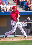 11 March 2014: Washington Nationals infielder Danny Espinosa in action during a Spring Training game against the New York Yankees at Space Coast Stadium in Viera, Florida. The Nationals defeated the Yankees 3-2 in Grapefruit League play. Mandatory Credit: Ed Wolfstein Photo *** RAW (NEF) Image File Available ***