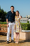 US actors Joel McHale and Gillian Jacobs pose during a photocall for the TV show 'Community' as part of the 54th Monte-Carlo Television Festival on June 9, 2014 in Monaco.