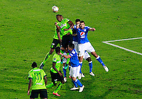 BOGOTA -COLOMBIA, 27-11-2016. Acción de juego entre Millonarios y Atlético Nacional  durante el  encuentro  por los cuartos de final ida de la Liga Aguila II 2016 disputado en el estadio Nemesio Camacho El Campín./Action game between Millonaros and Nacional   during match for the final quarters date  of the Aguila League II 2016 played at Nemesio Camacho El Campin stadium . Photo:VizzorImage / Felipe Caicedo  / Staff